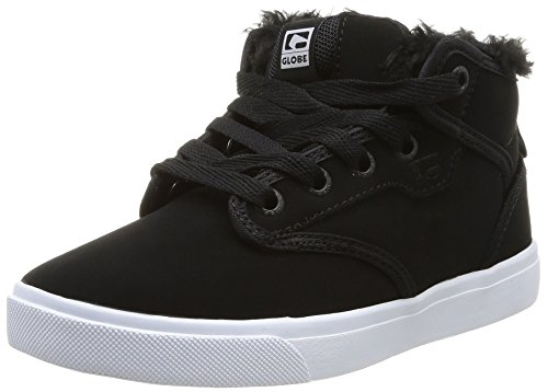 Global Eye Wear Motley Mid-Kids - Zapatos de piel para niños Black Fur