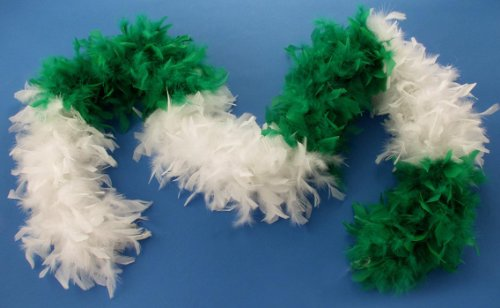 [Forum Turkey Feather Boa, White/Green, One Size] (Paddys Day Costumes)
