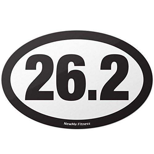 26.2 Runner Oval Marathon (26.2 Marathon Oval Car Magnet for Distance Runners, Trail Running | Stick it to Your Vehicle or its Bumper | Fitness & Runner Enthusiast)