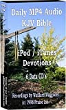 Daily MP4 Audio iPod/iTunes Devotions - KJV Bible - 161 hours - (6) CD data disks