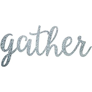Gather Word Galvanized Metal Wall Decor