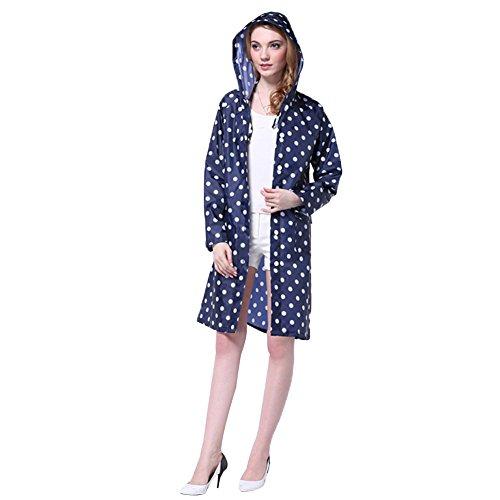 Capuche de Impermeable Impermable PIN avec Manteau Taille de Cape Pluie Femme Manteaux Raincoat LATH Vtements Poncho Pluie Bleu Unique C WP4ZOYxn