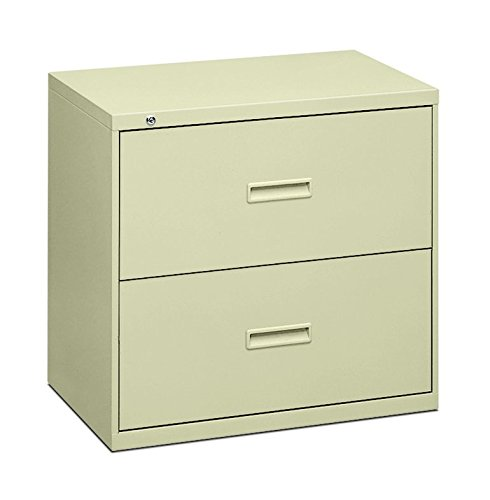 Pedestal Lateral File Cabinet (HON Filing Cabinet - 400 Series Two-Drawer Lateral File Cabinet, 30w x 19-1/4d x 28-3/8h, Putty (434LL))