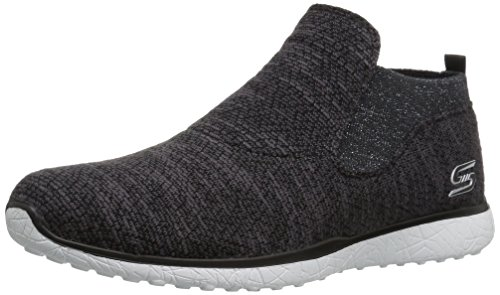 Skechers Sport Womens Microburst Supersonic Fashion Sneaker Nero / Bianco