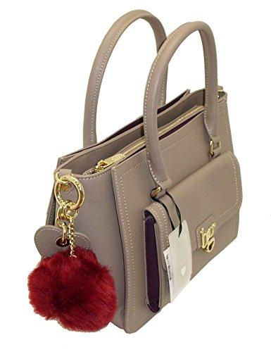 women bag 813001 manici BAULETTO Borsa con BG tracolla TAUPE due BLUGIRL qx8nTwfAB