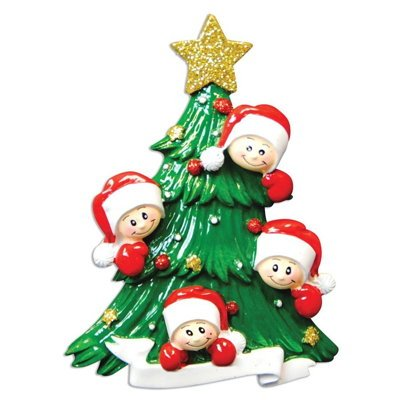 personalized christmas ornaments family series christmas tree w4 faces - Amazon Christmas Ornaments