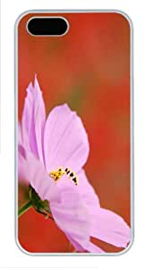 covers best Cosmos Flower Pink PC White Case for iphone 5/5S