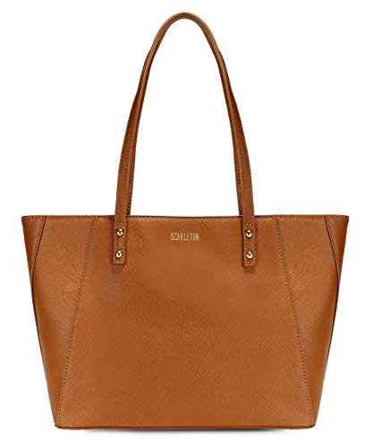 Scarleton Classy Tote Bag H194404 - Brown (Ace Leather Shoe Bag)