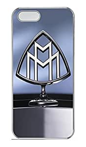 iPhone 5S Case, iPhone 5S Cases - Clear Plastic Case Cover for iPhone 5/5s Maybach Car Logo 2 Shock Absorbent Clear Hard Bumper Case for iPhone 5/5S