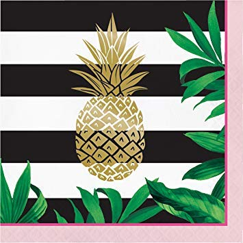 Golden Pineapple Wedding Party Theme Paper Luncheon Napkins - 48 Count ()