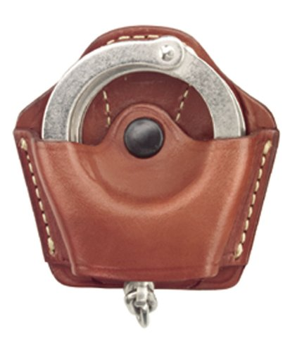 Leather Handcuff Case - Gould & Goodrich 840 Gold Line Handcuff Case With Belt Loop (Chestnut Brown) Holds most chain or hinged cuffs.