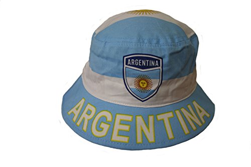 Argentina Country Flag BUCKET HAT Cap. ADULT SIZE .New