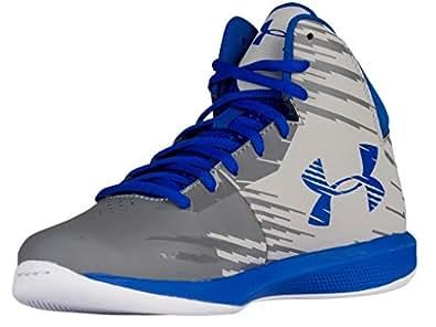 Under Armour Women's UA Jet Basketball Shoes 1259035 052 Size 7.5 Aluminum/Steel/Team Royal Blue