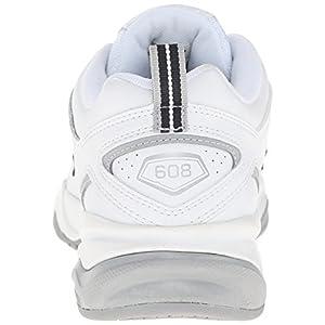 New Balance Women's WX608v4 Training Shoe, White/Navy, 8 B US