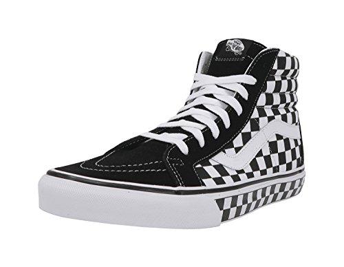 Vans Unisex Checkerboard SK8-Hi Reissue Black/True White/Check Sneaker - 12
