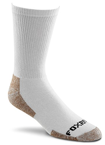 Fox River Value Pack Cotton Work Crew Cut Socks (3 Pair), Large, White