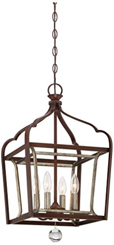 Minka Lavery Pendant Ceiling Lighting 4343-593, Astrapia Large, 4 Light, Dark Rubbed (Aged Silver 1 Light)