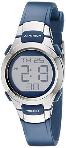 Armitron Sport Women's 45/7012NVSV Digital Watch with Matte Navy Strap (Armitron Sports 50)