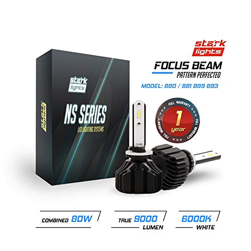 Stark NS Series [UPGRADED] 80W Fog Light Conversion Kit - 9000LM - 6000K Crystal White - Bulb Size: 800 Series