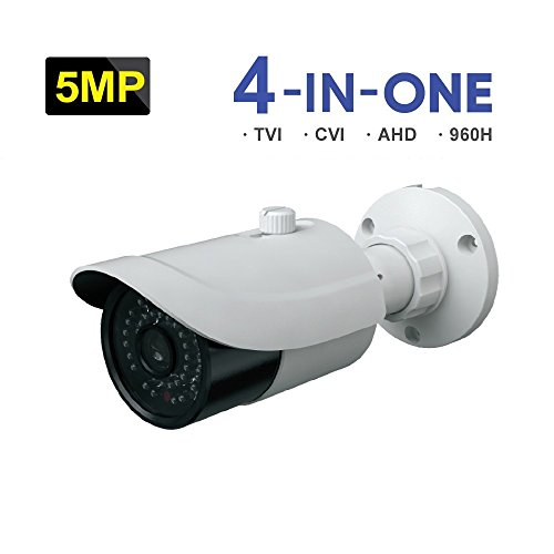 HDVD 4-In-1(TVI/AHD/CVI/CVBS), 5MP, 3.3-12mm, DC12V, WDR, Wide Angle Lens, Night Vision up to 30M, Outdoor / Indoor Bullet Type CCTV Surveillance Cameras