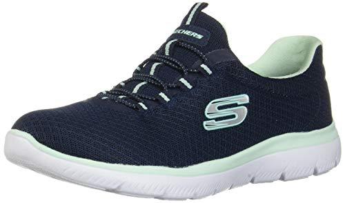 Skechers Sport Women's Summits Sneaker,navy aqua,10 M US