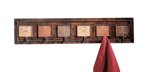 CBK Wine Label Design Wall Rack with Six Hooks from Home ()