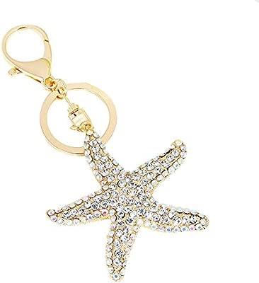 Cdet. 1x Llavero Moda Estrella de mar Colgante Pareja ...