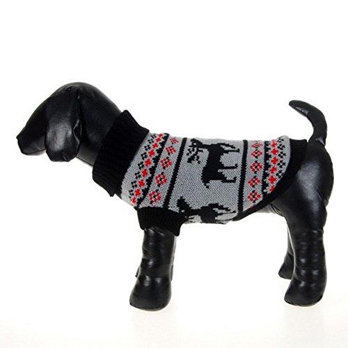PanDaDa Puppy Dog Little Heart Pattern Knit Sweater Coat Jumper Jacket (S(Tag:M), Black) Review