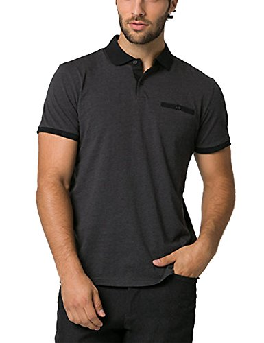 COOFANDY Mens Short Sleeve Polo Shirts Slim fit Casual Basic Golf T Shirt