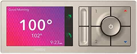 Moen TS3302TB U Shower Smart Home Connected Bathroom Controller, 2-Outlet Digital Wall Mounted, Terra Beige