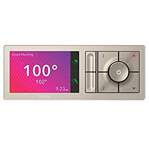 Moen U Shower Smart Home Connected Bathroom Controller, 2-Outlet Digital Wall Mounted, TS3302TB