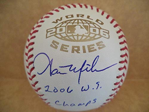 AARON MILES 2006 W.S. CHAMPS CARDINALS SIGNED 2006 WORLD SERIES BASEBALL - World 2006 Series Champs