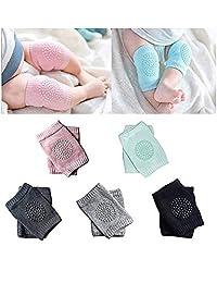 Rodillera para bebé, protector de seguridad para arrastrar rodillas/coderas para bebés pequeños (5 pares)