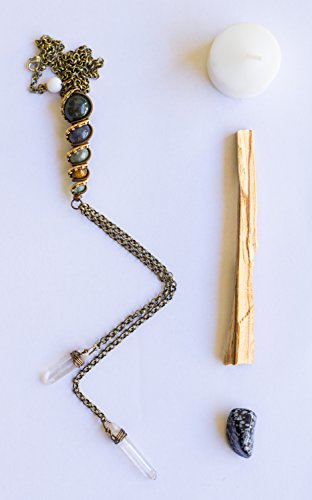 Crystal Healing Wire Wrapped Stone Totem Choker Bolo Style
