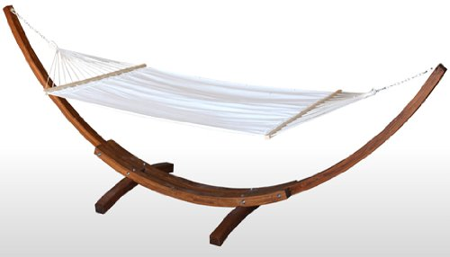 NEW WOOD WOODEN CURVED ARC 14' HAMMOCK STAND LARCH WOOD--3 ...