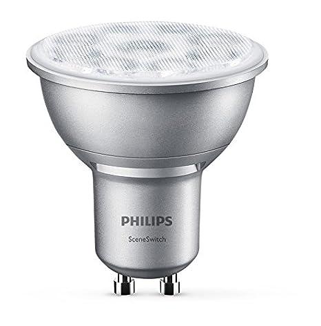 Philips Bombilla Reflector GU10 929001264301-Bombilla LED, luz cálida, Casquillo, 50 W
