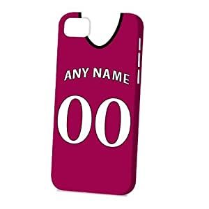 TYHde Case Fun Apple iPhone 4/4s Case - Vogue Version - 3D Full Wrap - Personalised Aston Villa Football Shirt, Any Name, Any Number ending