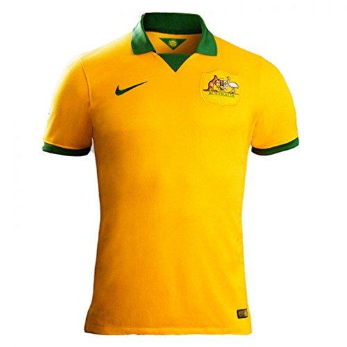 本気デコラティブバウンスNIKE Australia Home Jersey World Cup 2014/サッカーユニフォーム オーストラリア ホーム用 背番号なし ワールドカップ2014