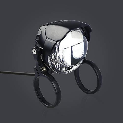 (Junstar Electric Bicycle Light 3W Waterproof & Shockproof LED Headlights 60 lux DC6V - 80V Aluminum Housing LED headlamp E24 Certificate)