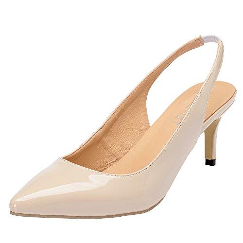 HEETIST Women's Hathlete Toe Pointed Toe Hathlete Stilettos Sling Back Navy Cool PU Sandals B07DNSQ6VW Parent 9a07f2