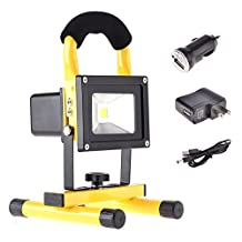 Phenas LED Work Light, 10W Portable Rechargeable Cordless Outdoor Floodlight, Waterproof IP65 Emergency Light for Traveling Camping Fishing