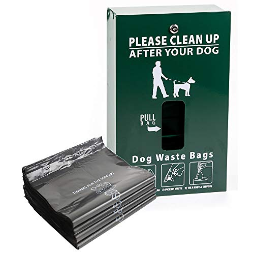 (Pet Waste Bag Dispenser, Aluminum, with 400 Dog Waste Bags Free! PNP-600 (PWC-015))