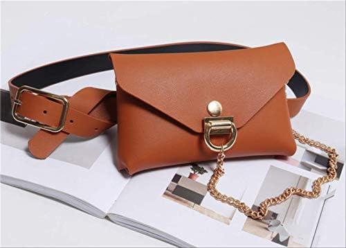 fhdc Riñoneras Nuevo PU Leather Women Waist Bag Female Belt Bag Pouch Luxury Fanny Pack Square Phone Money Holder Monedero Bum Bag Marrón: Amazon.es: Equipaje