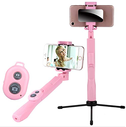 HOT - Selfie Sticks - Bluetooth remote control mobile phone selfie stick with mirror aluminum alloy folding self-timer artifact - 1 PCs by Annona