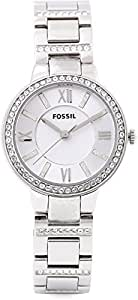 Fossil Casual Watch Analog Display For Women Es3282, Silver Band