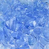 Crystal Blue Landscape Glass Small 50 Lb Bag For Sale