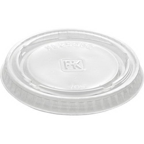 Fabri-Kal XL250PC Clear Polyethylene Terephthalate Lid for 1.5 2 2.5-Ounce Portion Cup 125-Pack (Case of 20) by Fabri-Kal