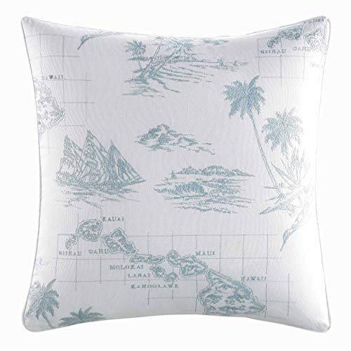 Tommy Bahama Sailaway Pillow, 16x16, Blue (Pillows Bahama Throw Tommy)