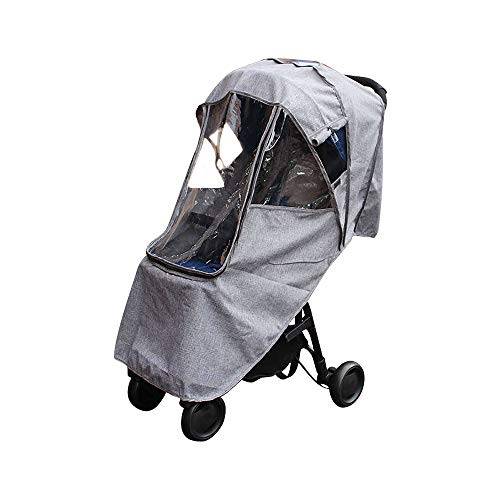 (Saftybay Universal Infant Baby Stroller Rainproof Windshield, Child Kids Carriage Umbrella Stroller Raincoat Cover Cold Warm Waterproof Case)