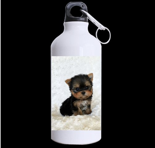 (Teacup Yorkshire Terrier Puppy DIY Personalized Custom Sport Water Bottle Travel Cup Design Your Own Nice Gift Art Prints Twin Sides)